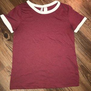 Divided Tops - Soft maroon T-shirt
